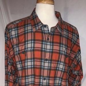 Patagonia Flannel Button Down Plaid Shirt